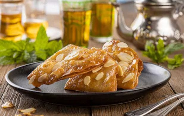Briouats dulces marroquíes