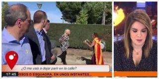 El Quilombo / Torra ignora a una mujer a punto de dar a luz que suplica que la dejen pasar y la feminista Chaparro le quita hierro al asunto
