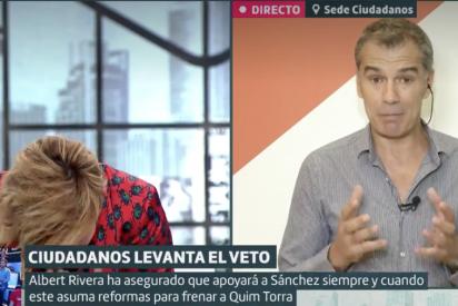 """El tremendo pollo que le monta Cristina Pardo a Toni Cantó por ser unos veletas de tomo y lomo: """"¡No lo entiendo!"""""""