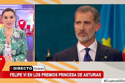 Un micro abierto en Cuatro en el discurso de la Princesa Leonor hunde a Carme Chaparro aireando un ridículo republicano