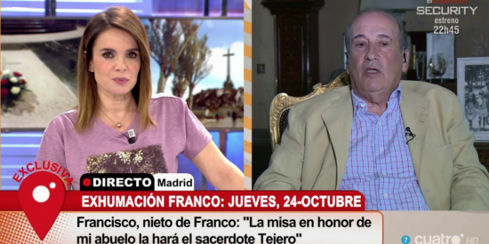 """Corte brutal en directo del nieto de Franco a la pésima Chaparro: """"La exhumación no es un baile de graduación, señorita"""""""
