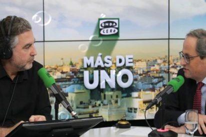'KO': los 10 zascas con los que Carlos Alsina hace fosfatina al xenófobo Torra y al independentismo catalán