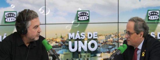 'K.O.': los 10 zascas con los que Carlos Alsina hace fosfatina al xenofobo Torra y al independentismo catalán