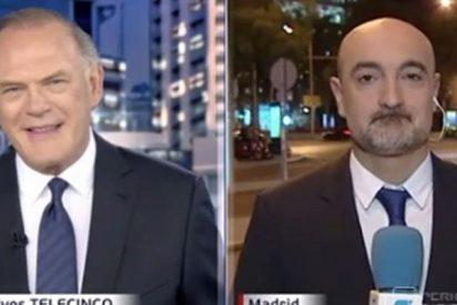 Piqueras hace una broma cogida por los pelos con el reportero menos indicado