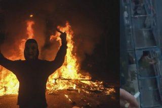 Vea cómo se nota que a los 'indepes' les ponen muy calientes los disturbios en Barcelona