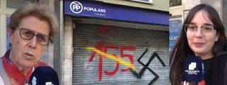 """El separatismo amenaza la sede del PP en Barcelona: """"Vienen a marcarnos como si fuéramos ganado"""""""