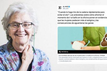 El País de Soledad Gallego-Díaz asegura sin pestañear que la mujer es víctima del heteropatriarcado empresarial incluso a la hora de ir al baño