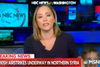 A esta presentadora de televisión estadounidense se le 'cuela' un invitado muy especial en pleno directo