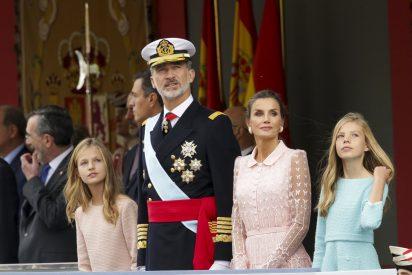 La Reina Letizia eligió su 'look' más romántico para la Fiesta Nacional