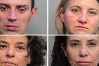 Detienen en Miami a estos cuatro auxiliares de vuelo de American Airlines, acusados de lavado de dinero