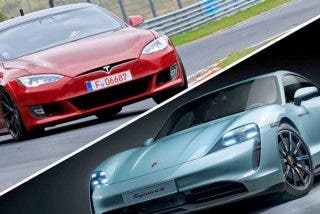 Duelo entre el Tesla Model S y el Porsche Taycan; uno de ellos humilla a su rival