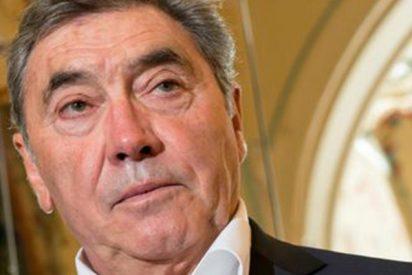 El mítico ciclista Eddy Merckx, hospitalizado tras caerse de la bicicleta y darse un fuerte golpe en la cabeza