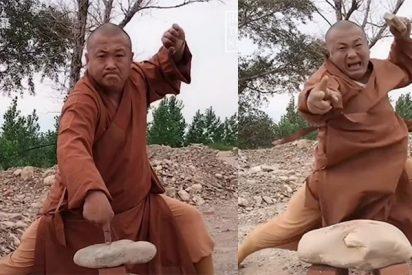 El monje kung-fu que rompe rocas con dos dedos