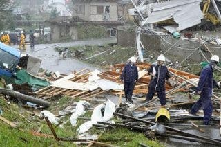 El potente tifón Hagibis ya azota con violencia a Japón