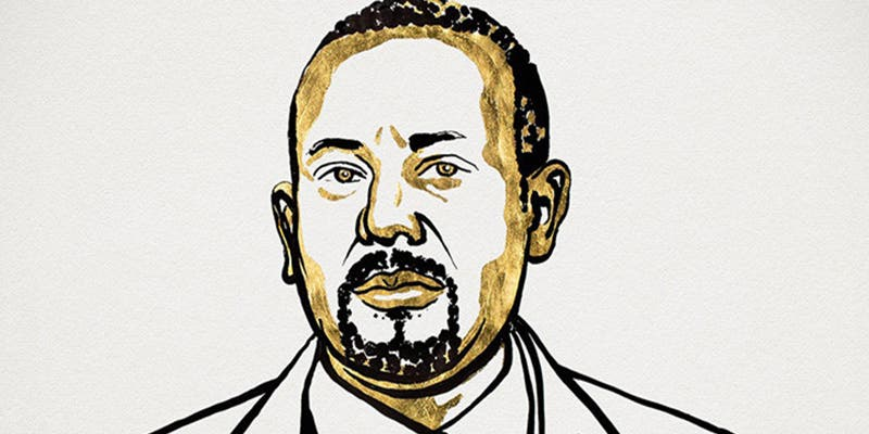 El primer ministro etíope, Abiy Ahmed Ali, recibe el Nobel de la Paz