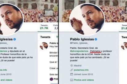 """El ridículo de Pablo Iglesias ahora se autodenomina en Twitter como un """"petimetre"""": """"Presumido, señorito"""""""