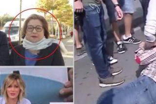El testimonio de María Grimea, la mujer de la bandera española golpeada brutalmente por un indepe, avergüenza a las feministas de carné
