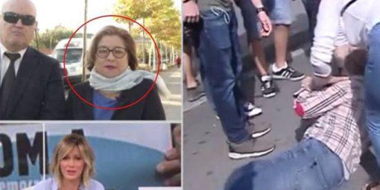 El testimonio de María Grima, la mujer de la bandera española golpeada brutalmente por un indepe, avergüenza a las feministas de carné