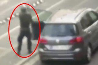 Estas imágenes muestran al tirador de Halle durante su ataque