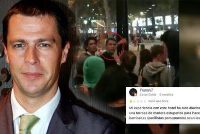 """Este es Raimon Senpau, el director del hotel de lujo de Barcelona que da refugio a los CDR violentos: """"Estáis en casa"""""""