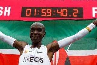 Este es el primer hombre del mundo en correr una maratón en menos de 2 horas