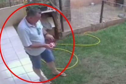 Este hombre quiere deshacerse de las cucarachas y provoca una explosión subterránea en su patio