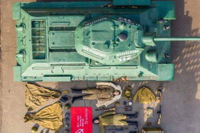 Este museo histórico se se une al #TetrisChallenge con un carro de combate, tanquistas y equipos