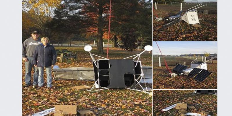Este pseudosatélite de Samsung cae del cielo y se estrella en la granja de una familia