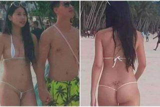 """Arrestan y multan a una turista de 26 años en Filipinas por llevar un bikini """"erótico"""""""