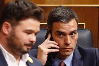 El plan de Sánchez para seguir en La Moncloa es sacar a Torra de la presidencia de la Generalitat y pactar otra vez con los independentistas