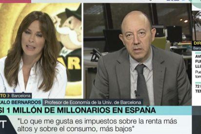 """Gonzalo Bernardos se lo deja claro a los independentistas: """"Una parte de catalanes ha decidido suicidarse económicamente"""""""