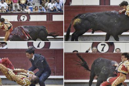 Gonzalo Caballero sufre una terrible cornada que le secciona la vena femoral