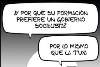 Una cruda viñeta relaciona a ETA, Rufián, PSOE y a laSexta y las redes estallan contra Atresmedia