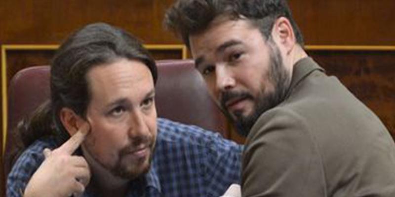 """Iglesias despelleja a Rufián: """"Juega todos los papeles; un día con la impresora y otro pareciendo portavoz del PSOE"""""""