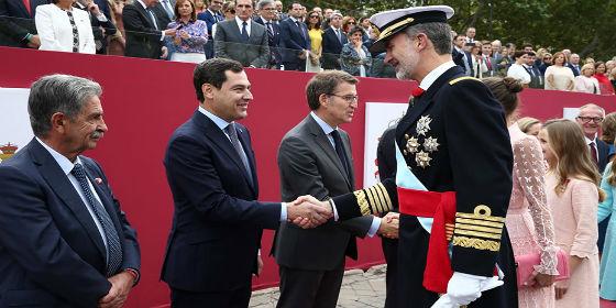 Moreno afirma que el 12 de octubre es una fiesta para sentirnos orgullosos de ser españoles y andaluces