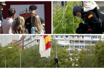 Tsunami de cariño para el paracaidista de la farola: toda España quiere que vuelva a ser en 2020 el abanderado para el desfile del 12-O