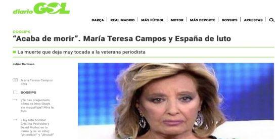 María Teresa Campos pedirá en los tribunales una indemnización millonaria al medio que la 'mató antes de tiempo