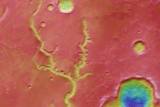 La sonda Mars Express 'espía' una extensa red de ríos extintos en Marte