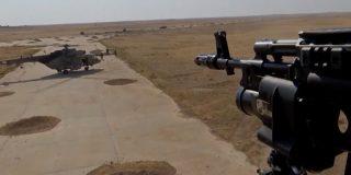 Los helicópteros militares rusos ya están aterrizando en una antigua base de EE.UU. en Siria