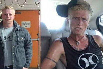 Madre comparte el impresionante antes y el después de su hijo adicto a la heroína