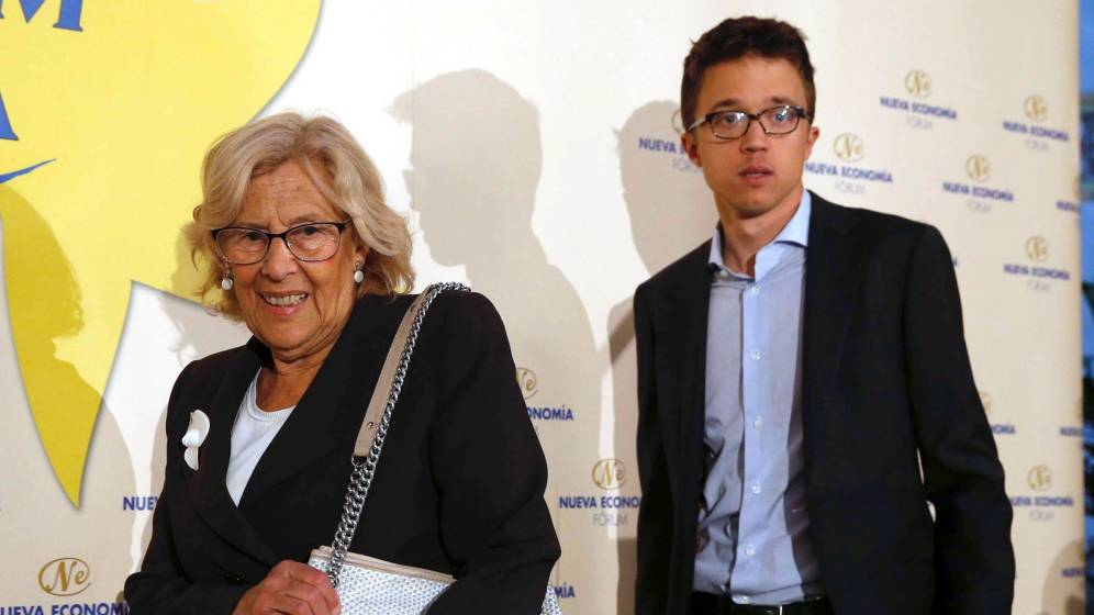 'Abuelita' Carmena mete un rejonazo a 'Baby' Errejón: no le permite utilizar su rostro en la publicidad electoral