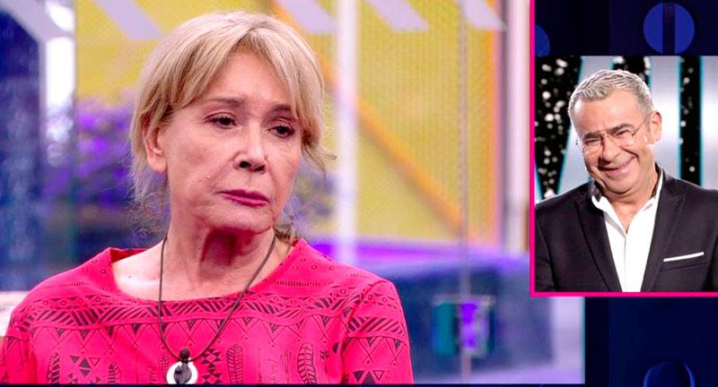 A Mila Ximénez no le gustan nada las carcajadas de Jorge Javier Vázquez y abandona la gala de GH VIP