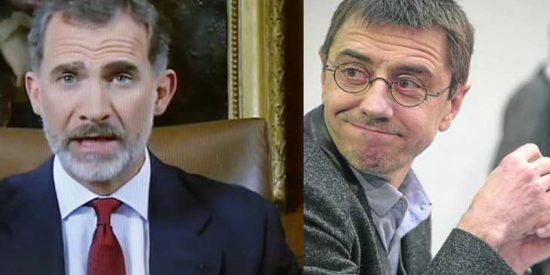 """El acomplejado de Monedero sentencia: """"Felipe VI tiene los días contados"""""""