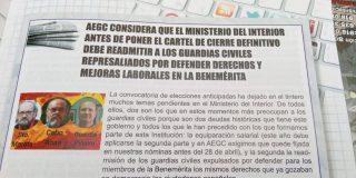 El ministro del Interior antes de poner cartel de cierre definitivo debe readmitir a los Guardias Civiles Democráticos.