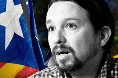 Pablo Iglesias es el 'tonto útil' del separatismo catalán y los 'indepes' se lo agradecen