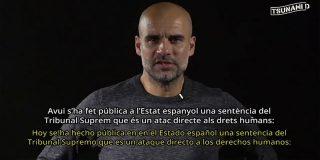 """Pep Guardiola, nuevo portavoz de los violentos CDR: """"La sentencia del 'procés' es un ataque a los derechos humanos"""""""
