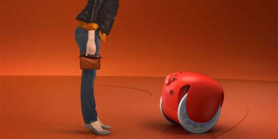 Pronto saldrá a la venta este gracioso robot que puede seguirte como un perrito y cargarte las compras