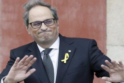 """""""Que le den el Goya"""": El vídeo del pobre Torra cabreado como un mono porque Sánchez no se pone al teléfono"""