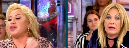 Brutal enfrentamiento entre Raquel Mosquera y Belén Ro que terminó con el abandono del plató de 'Sábado Deluxe' de una de ellas