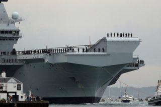 Reino Unido investiga la filtración del video del piloto de un F-35 que cae en el portaviones Queen Elizabeth